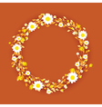 orange round flowers vector image vector image