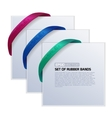 Set of cards with realistic rubber bands vector image