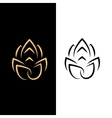 Abstract image of a lotus flower Black on white vector image