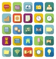 Application color icons with long shadow vector image