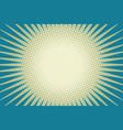 blue sun pop art background vector image