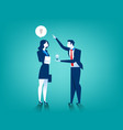 businessman give women new idea bulb vector image