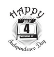 calendar with date - 4th of july independence day vector image