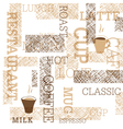 coffee themed seamless background vector image