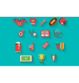 Flat icons collection for american football vector image