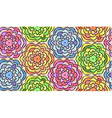 Seamless pattern made from flowers vector image