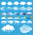 clouds and weather symbols vector image vector image