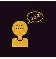 man closing eyes and sleep various symptoms of vector image