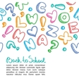 alphabet background vector image vector image