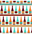 Seamless pattern with bottles of champagne in vector image