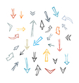 Hand Drawn Arrows Isolated on White Background vector image vector image