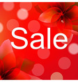 Red Sale Poster With Flower vector image vector image