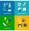 Electricity energy concept vector image