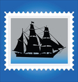 Postage stamps with ships vector image