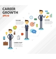 business career growth vector image