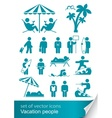 set icon vacation people vector image
