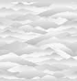 abstract wave seamless pattern mountain skyline vector image