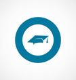 education bold blue border circle icon vector image
