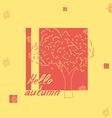 hello autumn tree sketch vector image