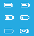 Set of mobile UI battery icons vector image