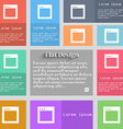 Simple Browser window icon sign Set of vector image