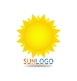 Sun icon Sun logo Summer design vector image