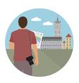 Tourist vector image