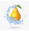 pear realistic fruit vector image vector image