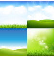 Grass And Sky Set vector image