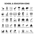 Large set of 40 school and education icons vector image vector image