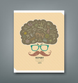 Cover report man scientist wearing glasses vector image