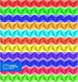 Colorful Seamless Triangles Background vector image