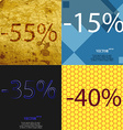 15 35 40 icon Set of percent discount on abstract vector image