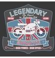 British Motorcycle T-shirt Design vector image vector image