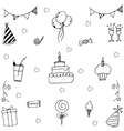 Doodle wedding element party vector image