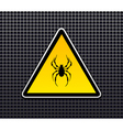 Attention spiders vector image