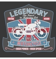 British Motorcycle T-shirt Design vector image