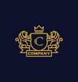 coat of arms letter c company vector image