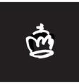 drawn crown vector image