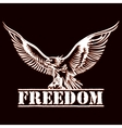eagle of freedom vector image