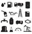 Fuel Oil and Gas Icons Set vector image