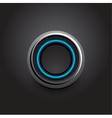 hi-tech light button design vector image