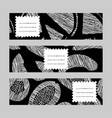 horizontal banner set monochrome melon vector image
