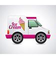 ice cream truck design vector image