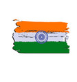 india flag painted by brush hand paints art flag vector image
