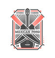 mexican food vintage isolated label vector image