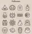 Outline Icons Set Halloween vector image
