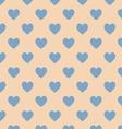 Seamless polka dot brown pattern vector image