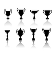 Sport cups and awards vector image