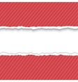 Red Paper frame for text vector image